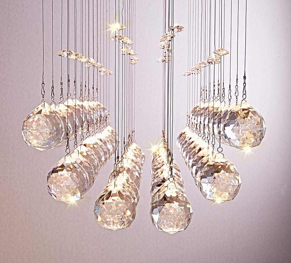 Saint Mossi Chandelier Modern K9 Crystal Raindrop Lighting Flush Mount Led Ceiling Light Fixture Pendant Lamp For Dining Room Bathroom Bedroom