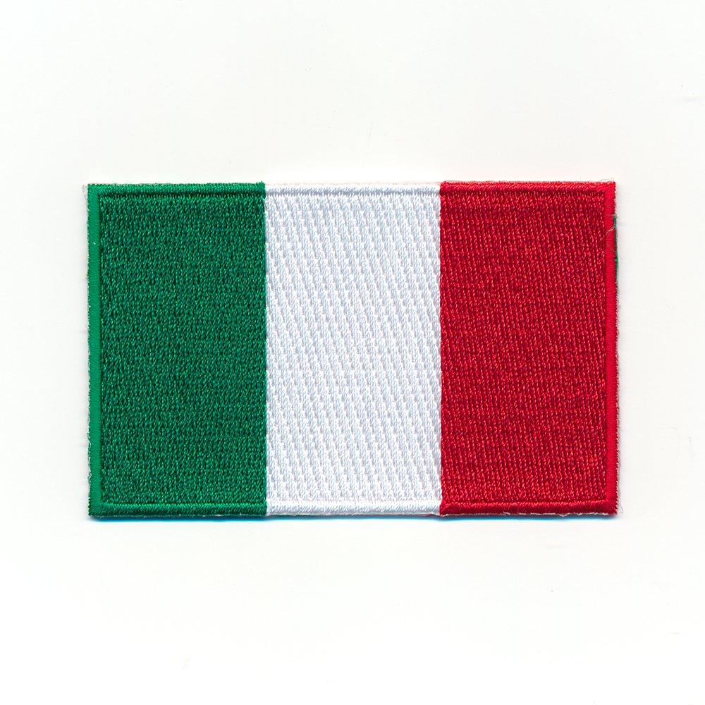 30/x 20/mm Italian Rome Flag Sew-On Badge//Iron-On Patch 0919/Mini