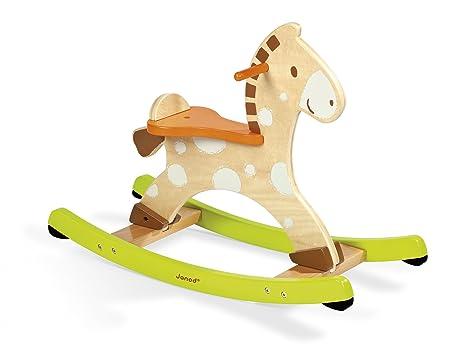 Cavallo A Dondolo Legno.Janod J05982 Cavallo A Dondolo In Legno Pigna Amazon It Giochi