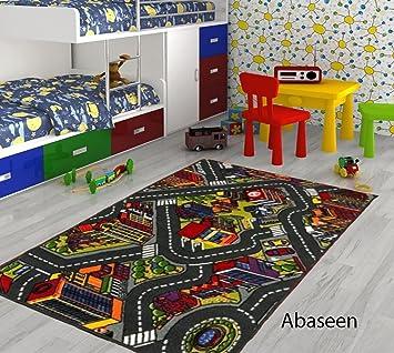 Enfants Abaseen Map De Tapis Jeu Pour Voituresjouets Road yvwOmn0N8