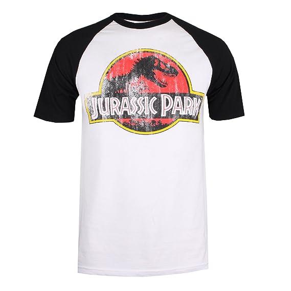 Jurassic Park Distressed Logo T Shirt Homme Amazon Fr Vetements
