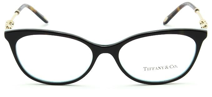 755ae19cb1 Tiffany   Co. TF 2142-B Women Eyeglasses RX - able Frame (Havana Striped  Blue 8217