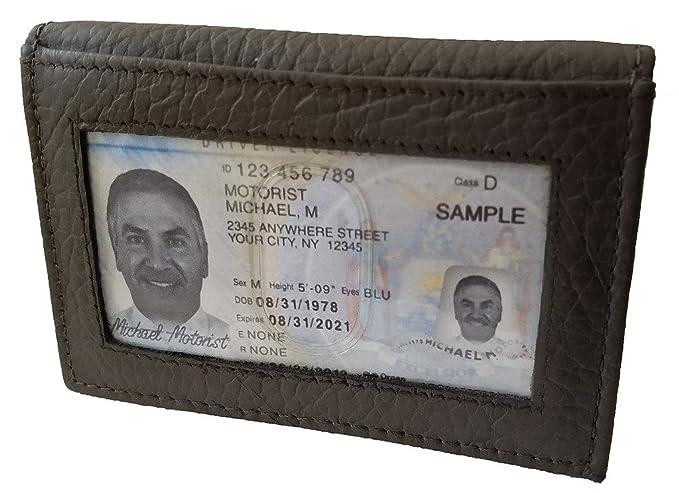 Duvalini leather bi fold cardcase front back pocket business card duvalini leather bi fold cardcase front back pocket business card holder wallet with exterior window colourmoves