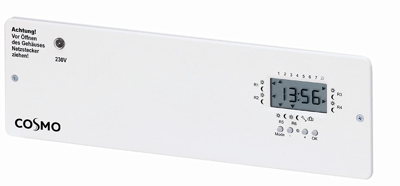 COSMO Ausbaumodul f.Klemmleiste 230V 6-Kanal-Dig.Uhr u.Pumpenlogik