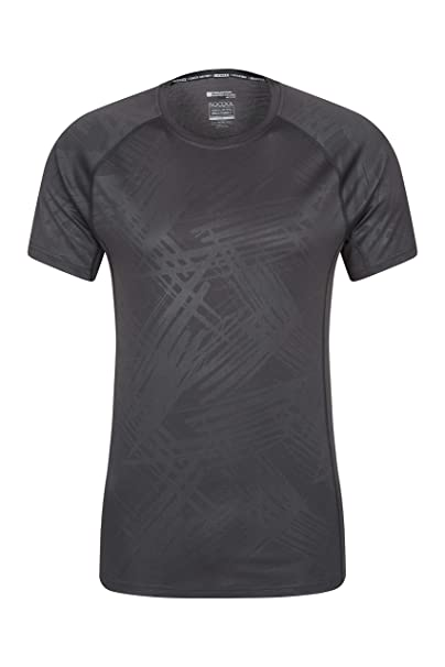 Ideal for Hiking Travelling Gym Running UV Protection Spring T-Shirt High Wicking Mountain Warehouse IsoCool Mens Tee Lightweight Tee Shirt Quick Drying Top