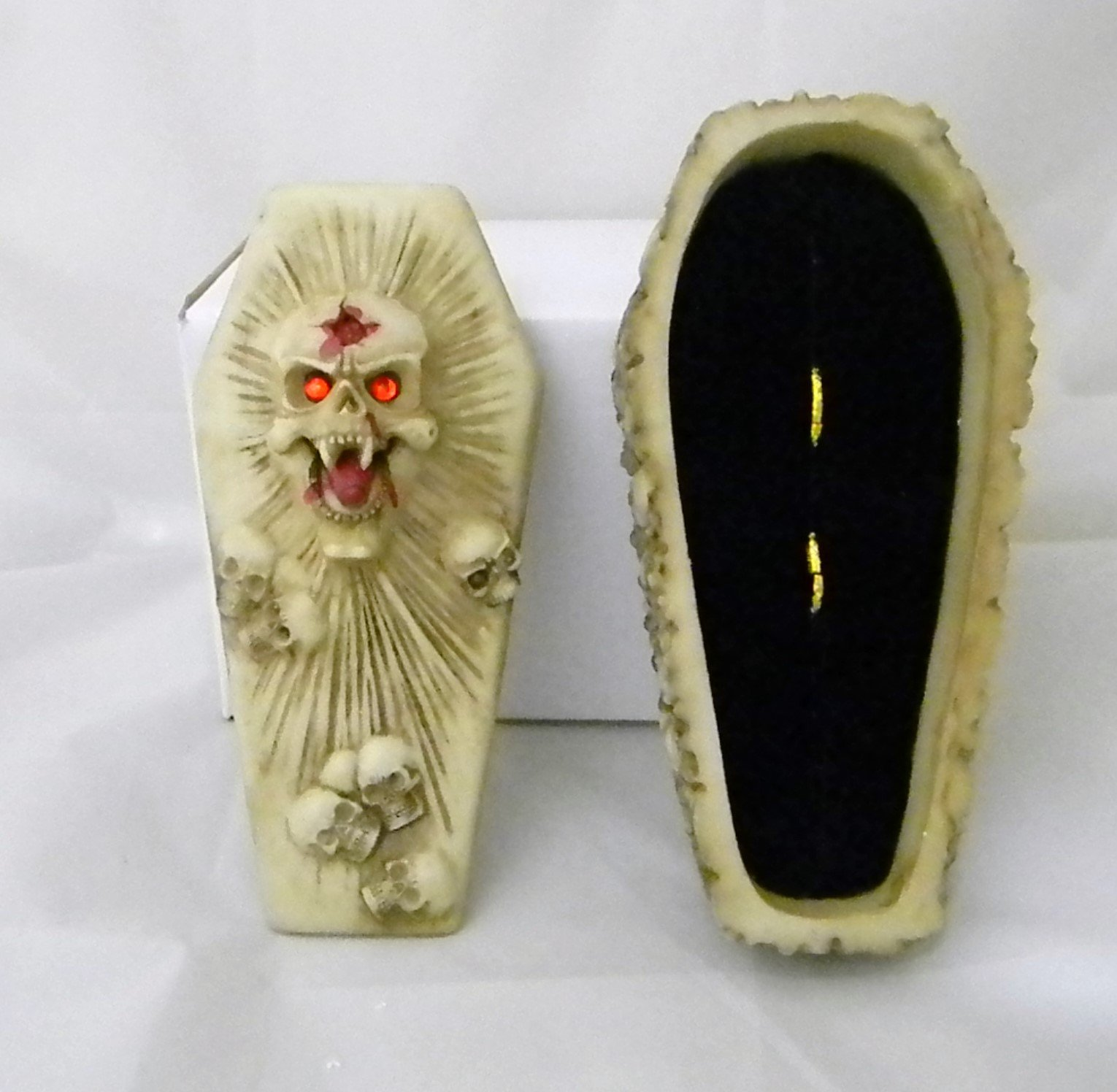 Wedding Ceremony Skull Gothic Coffin Tombstone ring bearer pillow Box