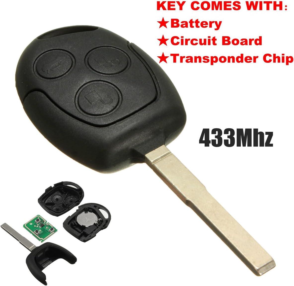 Funkschlüssel Für Ford 3 Tasten 433 92 Mhz Von Katur Auto