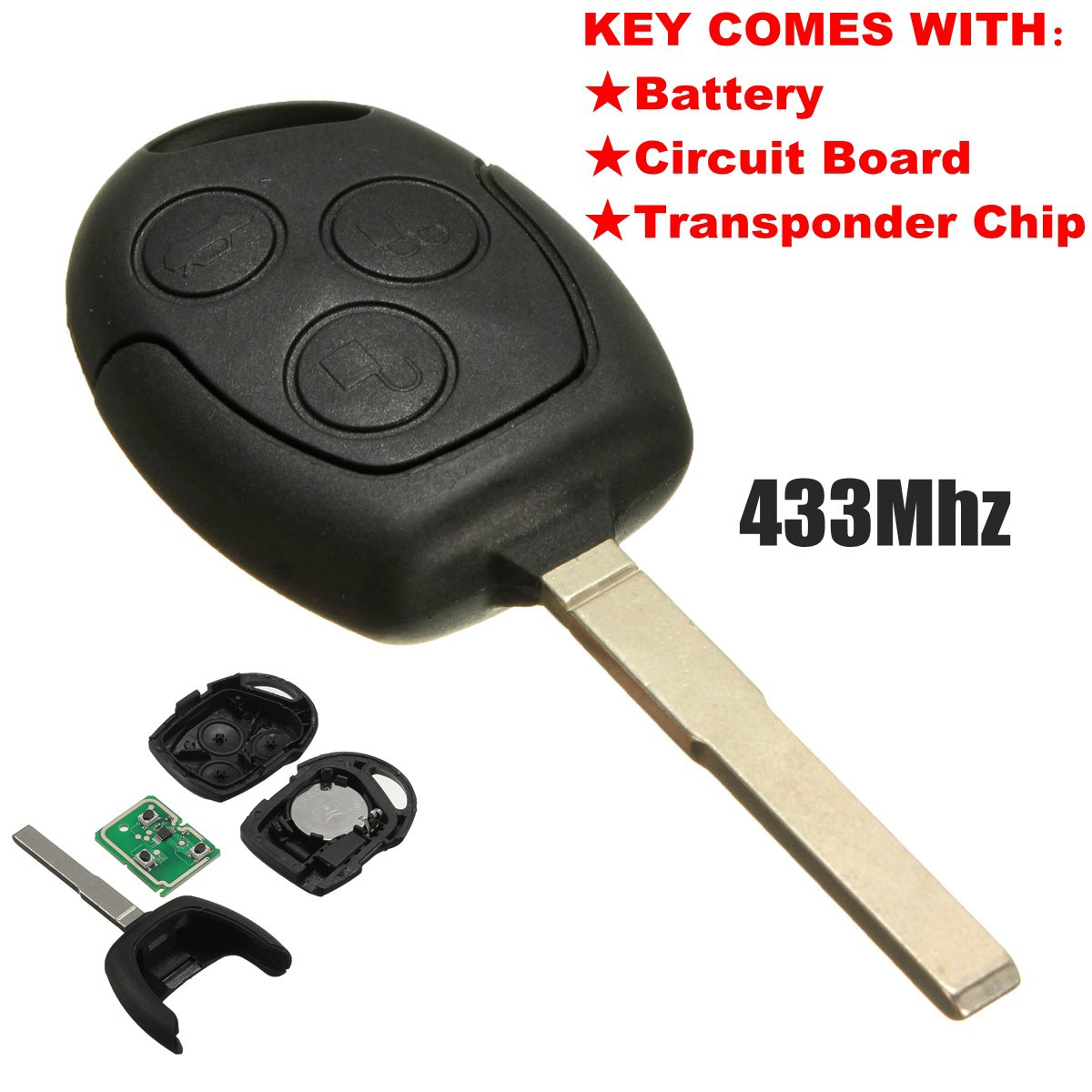 KATUR 3 buttons 433.92MHz remote key blade FOB for Ford / focus for Galaxy / C max / Mondeo / fiesta