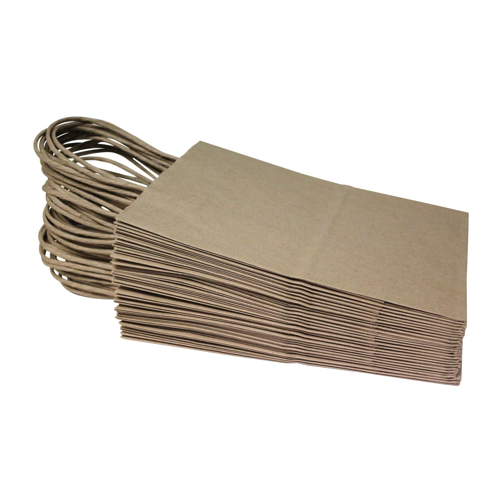 Flexicore Packaging 8''x4.75''x10''-100 Pcs-Brown Kraft Paper Shopping, Mechandise, Party, Gift Bags by Duro (Image #5)