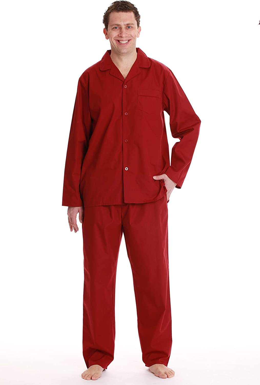#followme Solid Mens Pajama Set Button Front Sleepwear and Loungewear Pjs