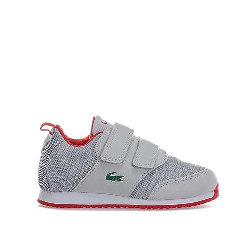 a8ee1278bfd3 Lacoste footwear Lacoste Infants Grey L.Ight 177 Velcro Trainers 3 UK 19  Euro