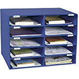 Pacon Classroom Keepers 10-Slot Mailbox, Blue (001309)