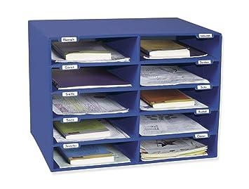 Awesome Classroom Keepers 10 Slot Mailbox, Blue (001309)