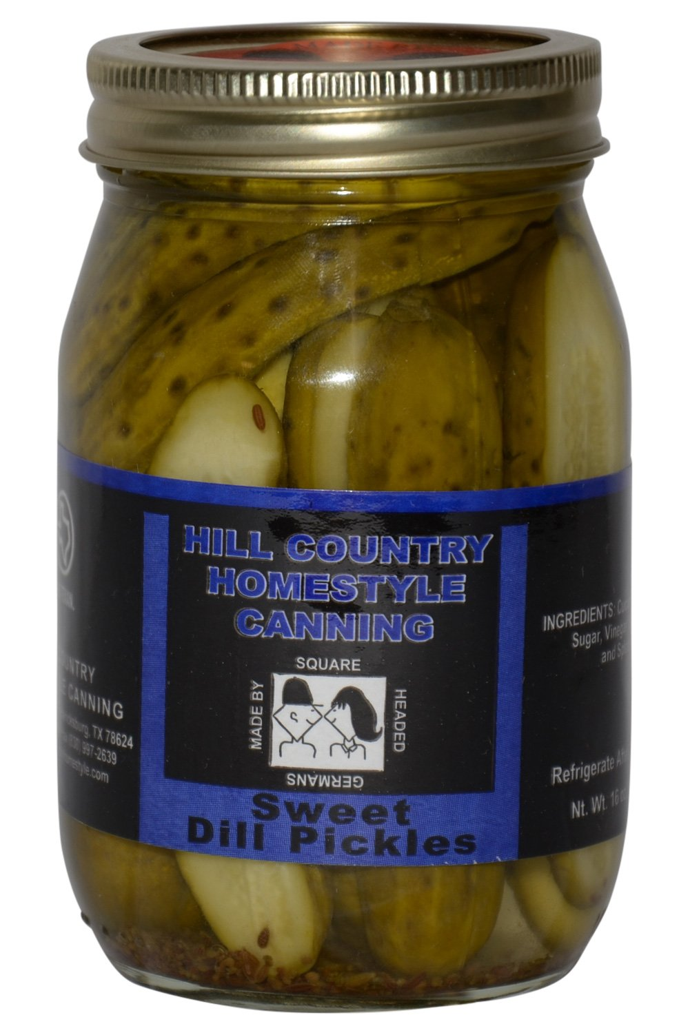 Texas Hill Country Sweet Dill Pickles 16oz