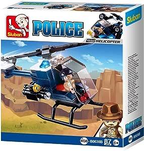 SlubAn M38-B0638B Police Ii-Helicopter, Multi-Colors 87 Pcs