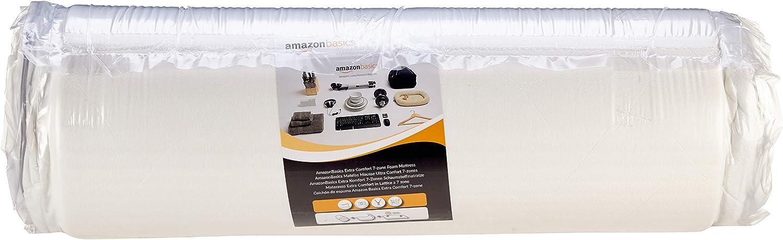 AmazonBasics - Colchón de espuma de 7 zonas extraconfortable ...
