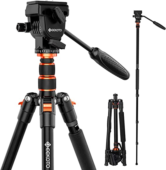 GEEKOTO 77 Inches Video Camera Tripod