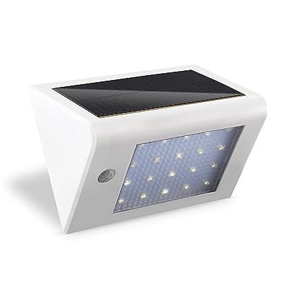 Deckey led solar 3W Lámpara Exterior Sensor Movimiento Automático Luz Jardín Patio Luz Color Blanco Frío
