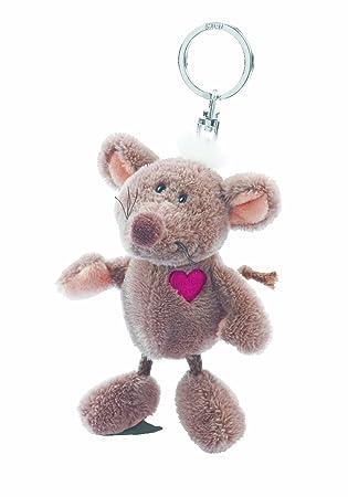 NICI 32347 - Llavero de Peluche de ratón con corazón de 10 cm