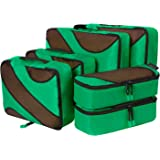 Amazon Brand: Eono Essentials 6 Set Packing Cubes,3 Various Sizes Travel Luggage Packing Organizers Lime Green