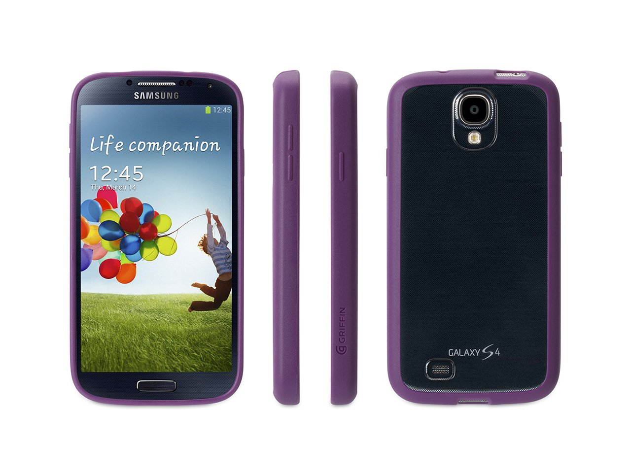 Griffin Reveal Case Cover for Samsung Galaxy S4 IV - Purple Trim