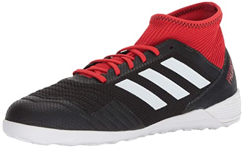 81af8e5e2e02 adidas Men's Predator Tango 18.3 Indoor Soccer Shoes, Core Black/Footwear  White/Red