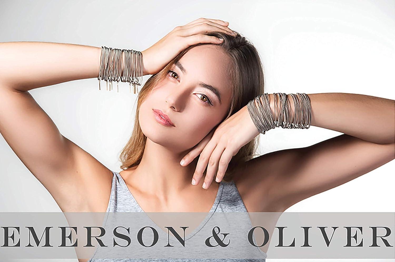 Set of Rose Gold Simple Emerson /& Oliver Dia Spring Bracelets Minimalist Bracelets Inspirational Boho