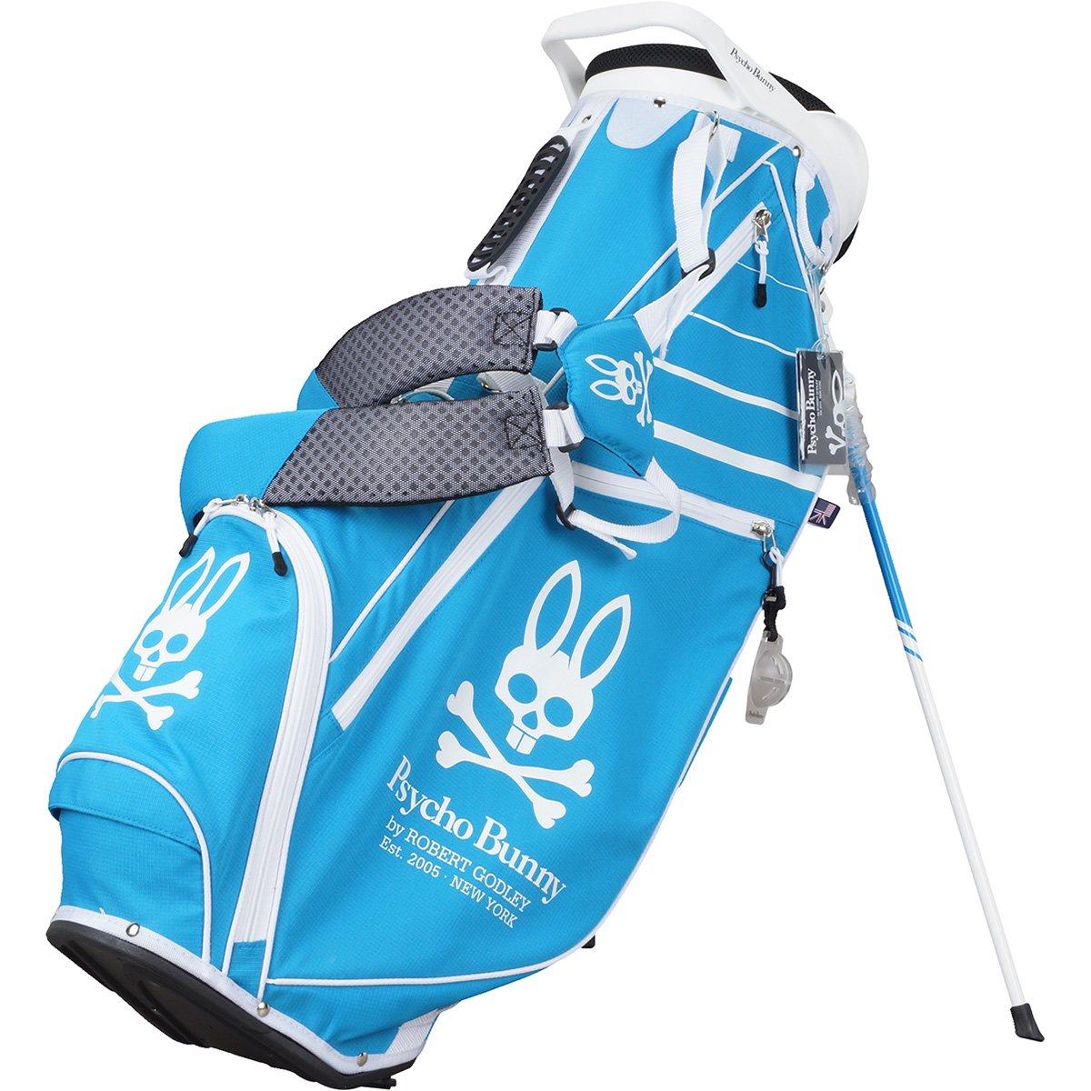 サイコバニー PSYCHO BUNNY キャディバッグ ゴルフ スタンドキャディバッグ B079DMHW6C ブルー 34 ブルー 34
