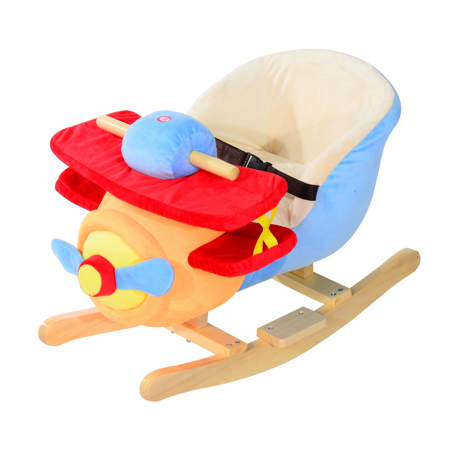 Amazon Qaba Kids Plush Rocking Horse Airplane w Nursery