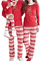 The Elegant Store Christmas Family Matching Pajamas Sleepwear Sets for The Family