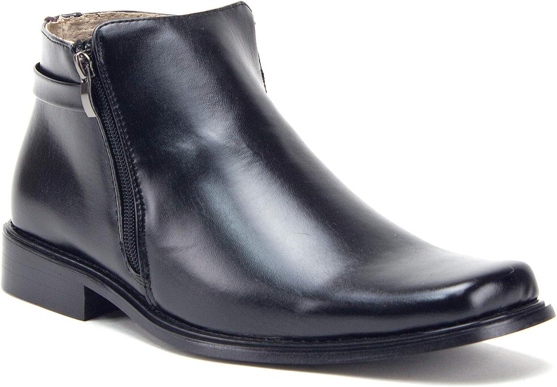 mens zip up dress boots