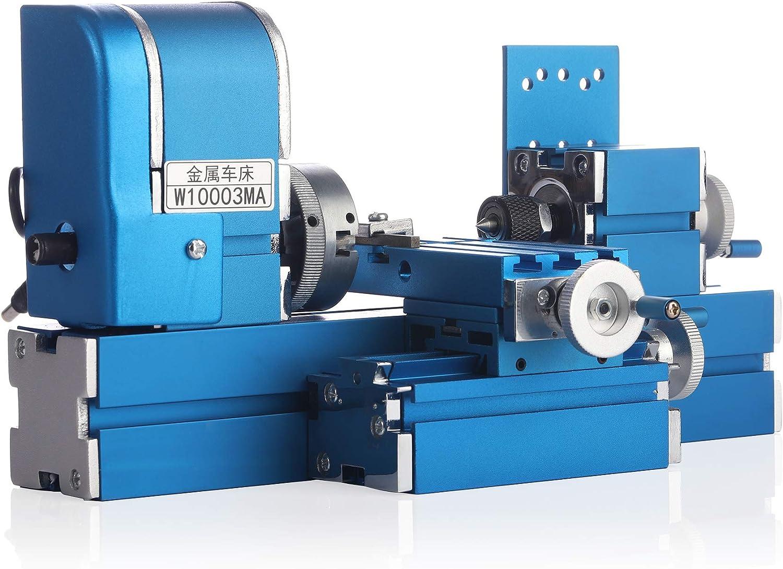 Benchtop Wood Lathe Bigger Motor Workpiece Accuracy Processing Wood Plastic 135mm Made Soft Mini Metal Lathe