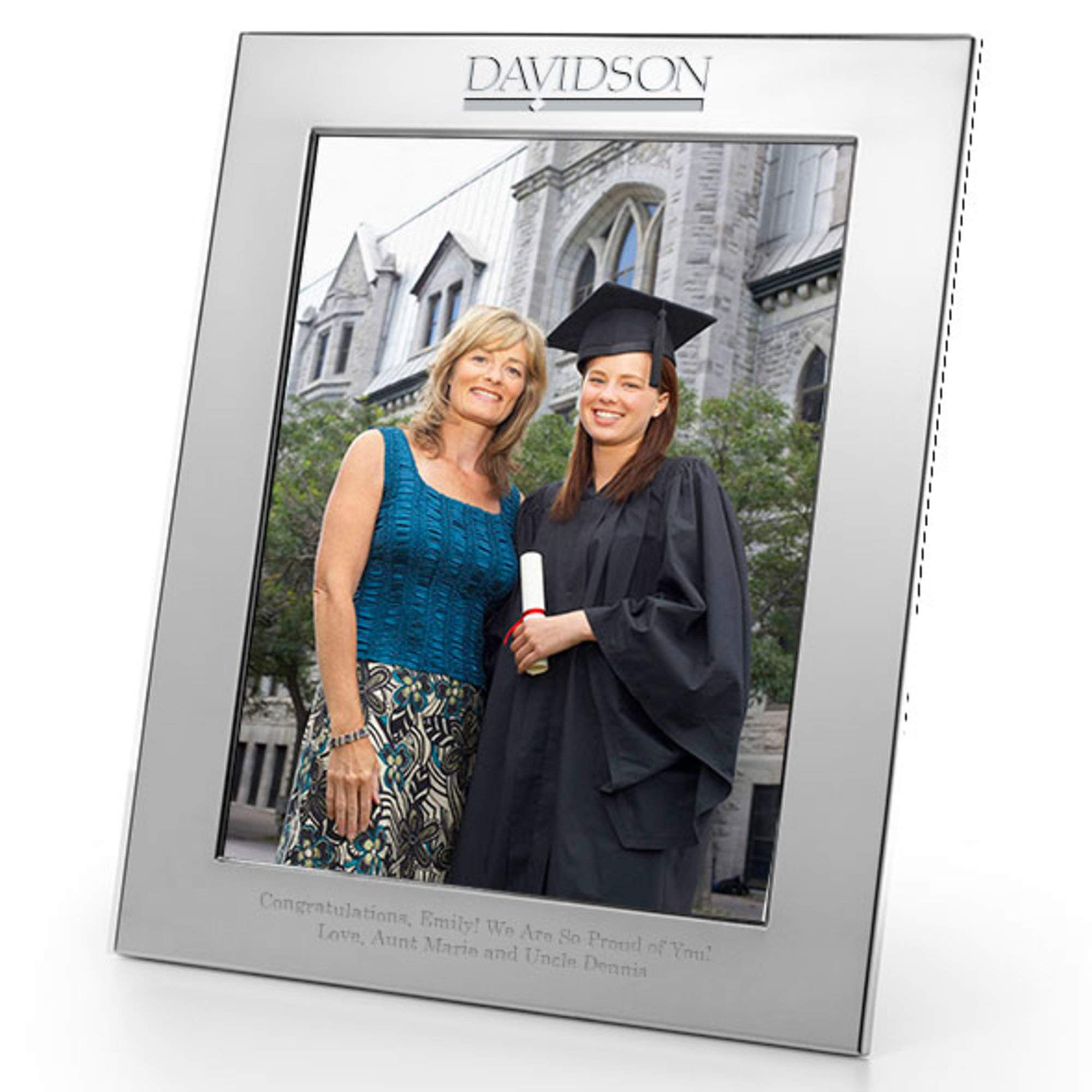 M. LA HART Davidson College Polished Pewter 8x10 Picture Frame