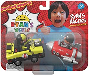 Ryan's World Ryan's Racers Pocket Watch Pull Back Action Cars