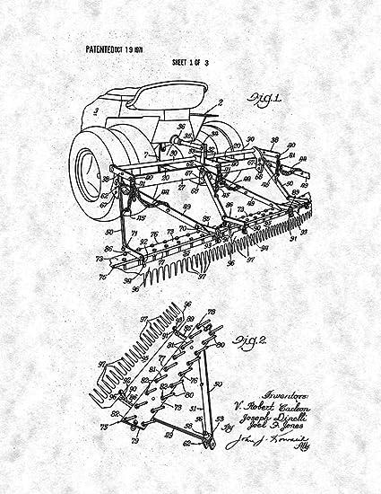 Amazon Com Sand Trap Rake For Golf Courses Patent Print Gunmetal