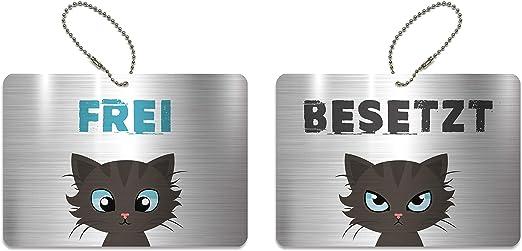 Edelstahl Anhänger Katze 17 x 10,5 x 4 mm beidseitig ca