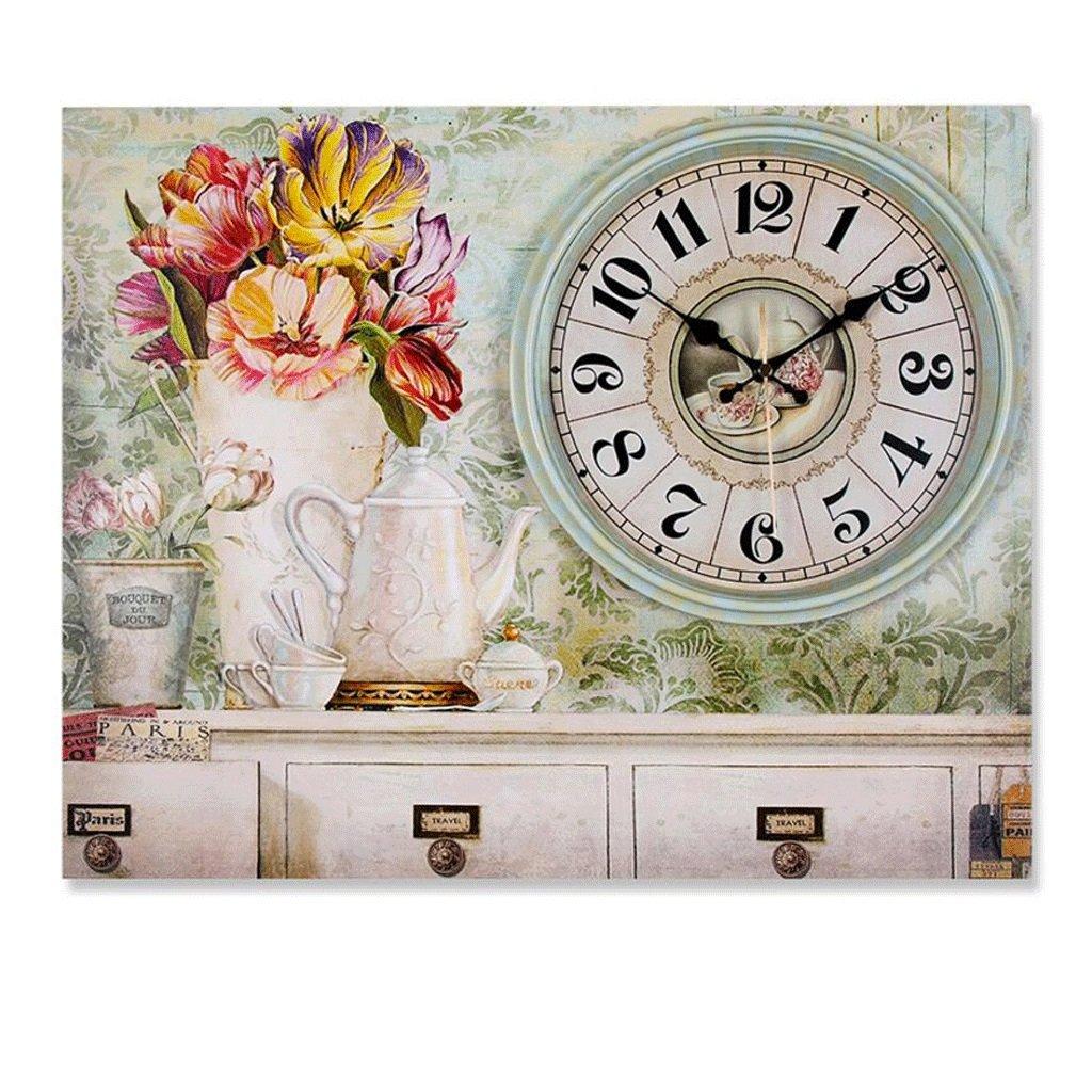 装飾的な壁時計リビングルームの時計ベッドルームミュートの絵画の時計 GAODUZI (色 : C) B07FNKVF19 C C