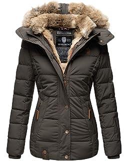 Marikoo Warme winterjas voor dames, gewatteerde jas