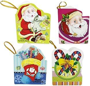 110069 - Pack de 48 Mini tarjetas navideñas, para invitación o regalo, tamaño 7x5,5cm, diseños variados: Amazon.es: Oficina y papelería