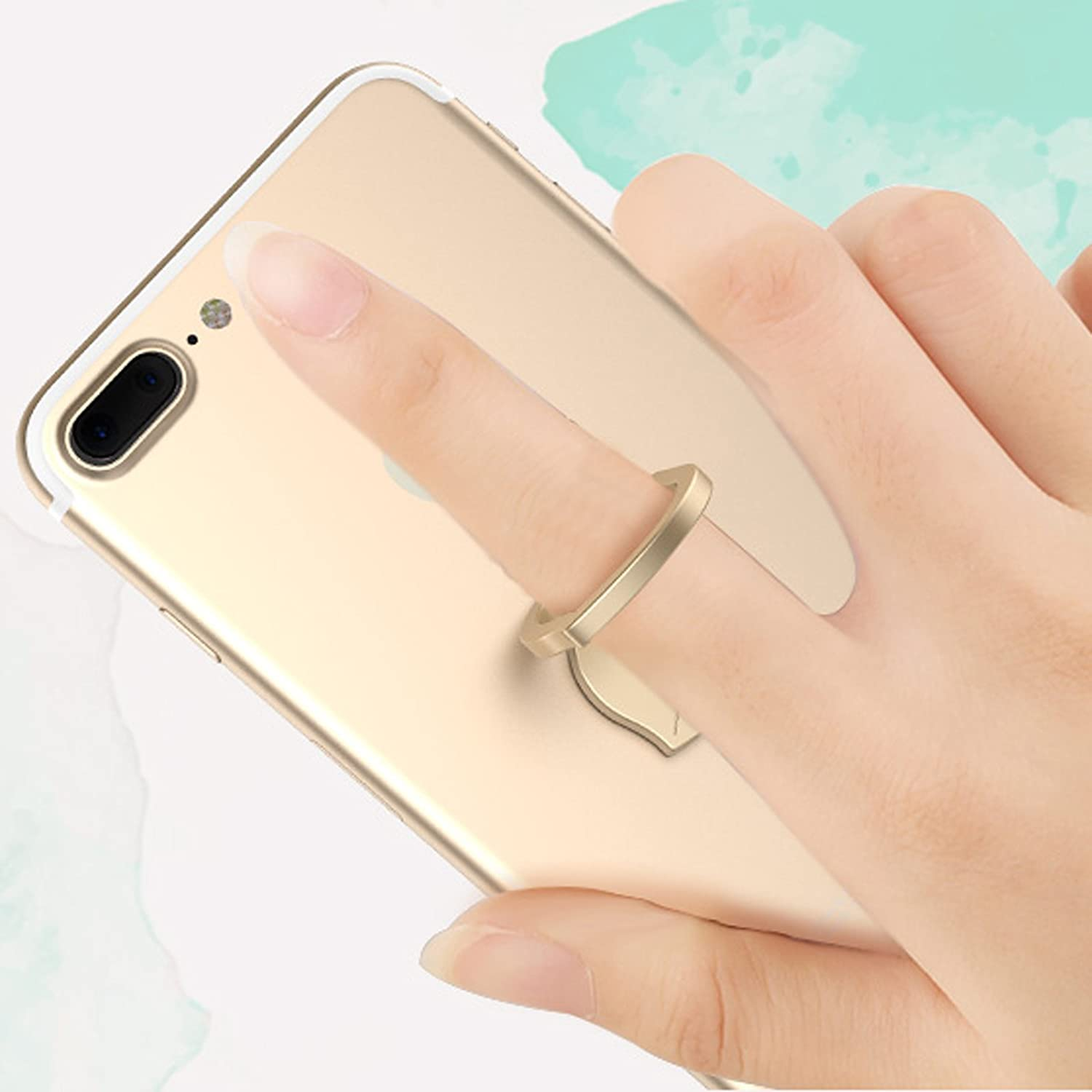 Phone finger ring holder//stand 2 pcs//Zinc alloy finger grip stand holder ring//car mount for iPhone 6s plus 7 8 plus//Samsung Galaxy S7 edge HTC Smartphones phone ring LEDING a132