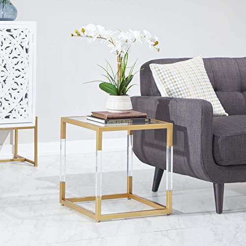 Benzara Antique Colonial Functional Metal Glass Acrylic End Table Review