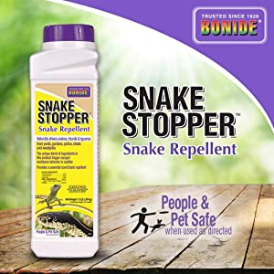 BONIDE PRODUCTS INC Bonide Stopper 8751 Snake Repellent, 1.5 Lb, White Bottle