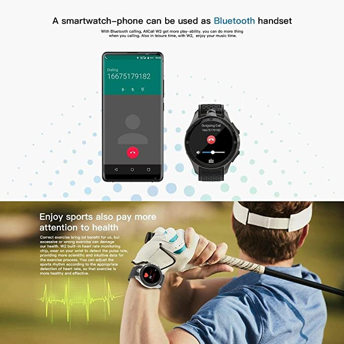 Smart watch AllCall W2 (2018 actualizado), IP68 Impermeable ...