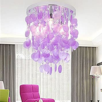 Haixiang girls bedroom crystal shell pendant lamp chandelier haixiang girls bedroom crystal shell pendant lamp chandelier lighting ceiling light purple mozeypictures Image collections