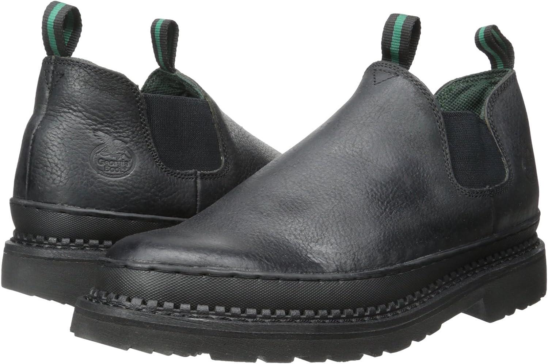 Georgia Mens GR270 Giant Romeo Work Shoe-M Steel Toe Boot Black 8.5 W US