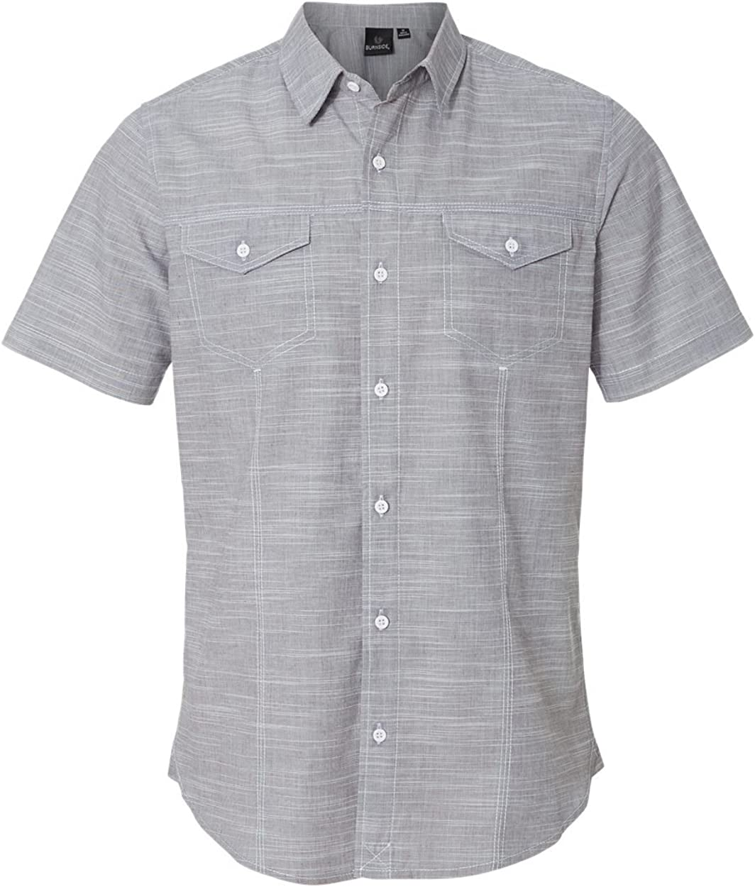 Burnside Textured Solid Short Sleeve Shirt (B9247)