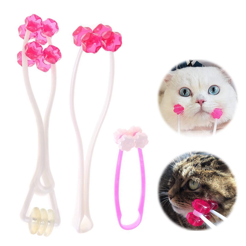 YAMI Masseur de visage d'animal familier Rouleau de massage pour chat Outil de soulagement des pieds Outil de toilettage pour chiens chats lapins (Bleu)