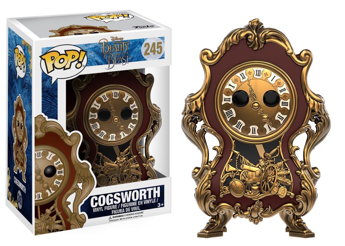Funko POP Disney Beauty /& The Beast Cogsworth Toy Figure