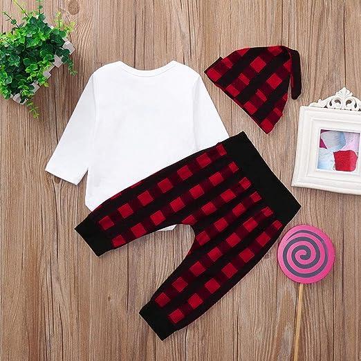 342e072af3b3 Amazon.com  Yihaojia 3PCS Winter Autumn Cotton Christmas Set Clothes ...