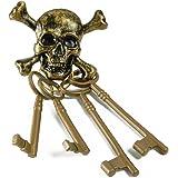 Bristol Novelty BA204Pirat Skelett Schlüssel, mehrfarbig, one size